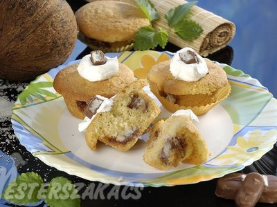 Bounty csokis muffin recept