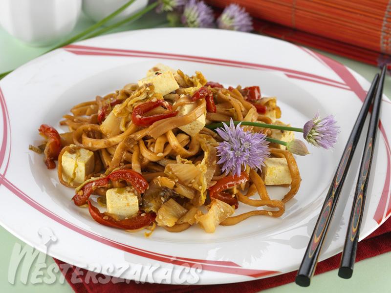 Ázsiai tészta tofuval recept