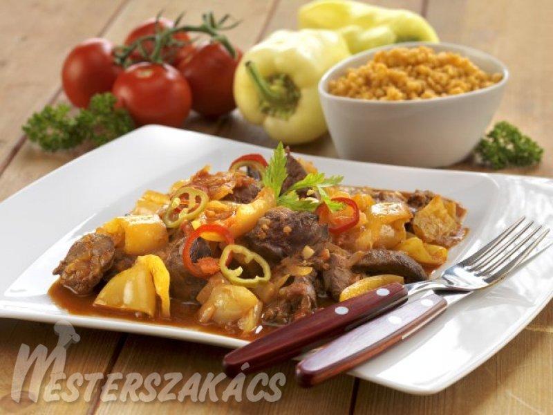 Bácskai csirkemáj (lecsós csirkemáj) recept