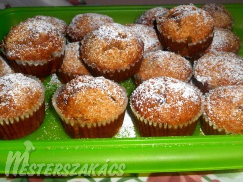 Banános, csokis muffin recept