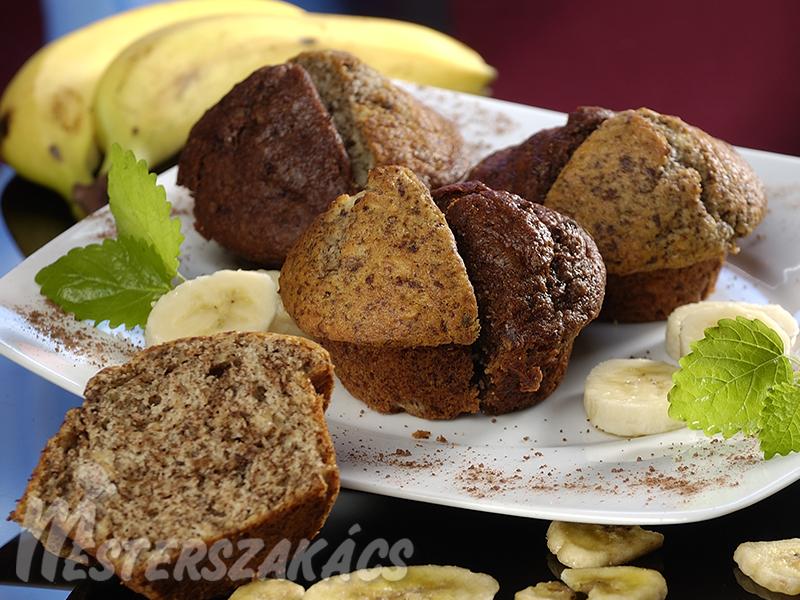 Banános, csokoládés muffin recept