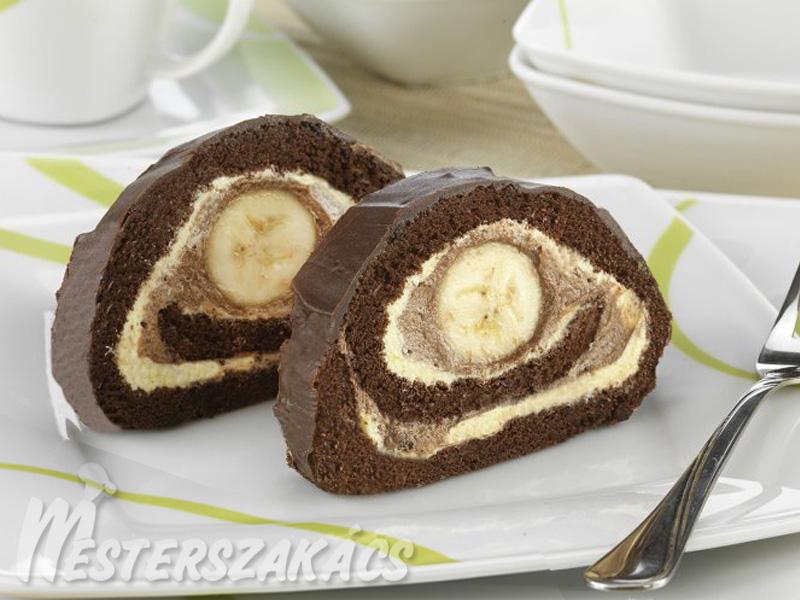 Banános, csokoládés tekercs (elefántkönny) recept