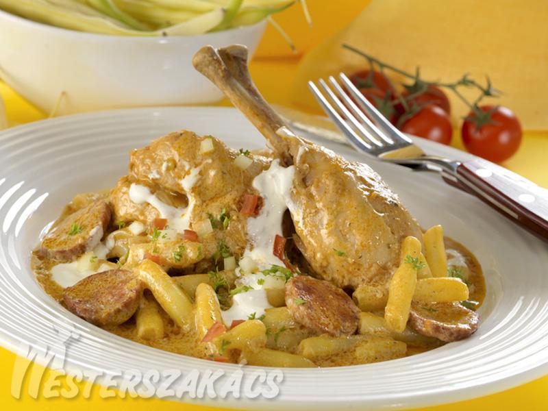 Baranyai zöldbabos csirke recept