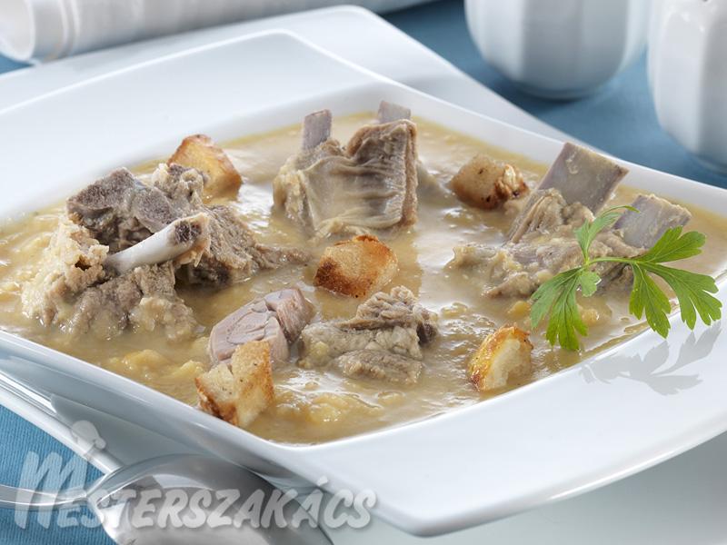 Bárányhúsos sárgaborsóleves recept