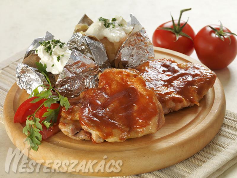 Barbecue csirkecomb recept