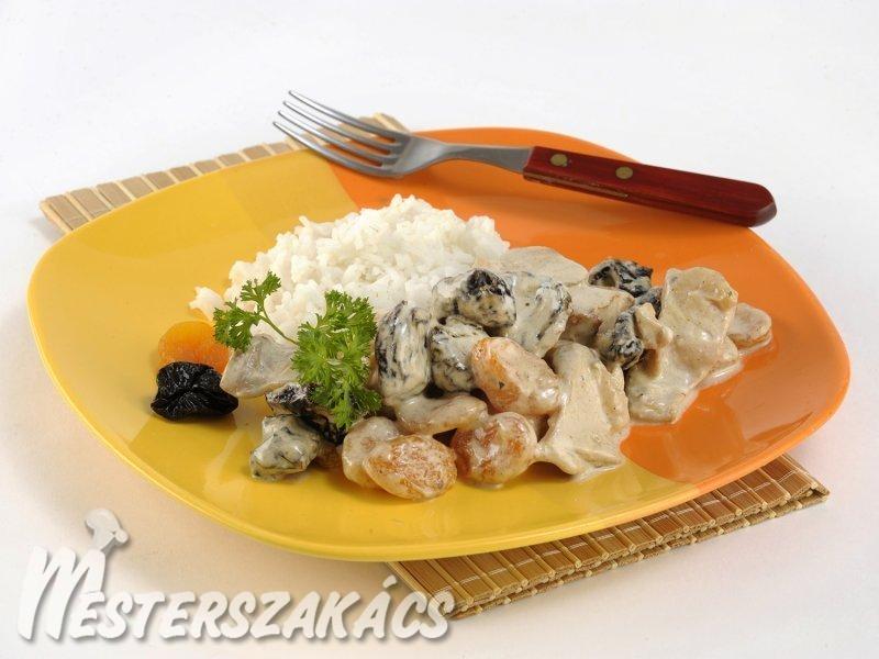 Boros-gyümölcsös pulyka  recept