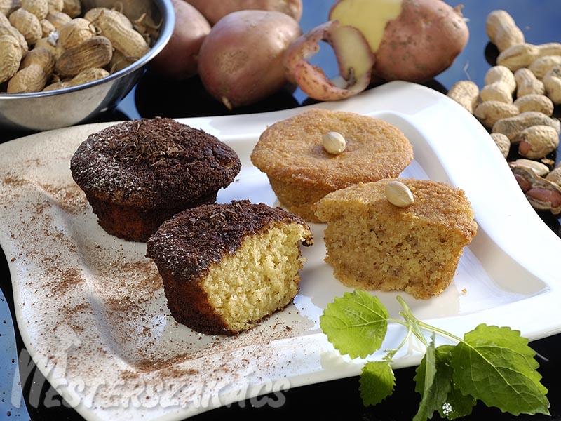 Burgonyás, kakaós és burgonyás, mogyorós muffin recept