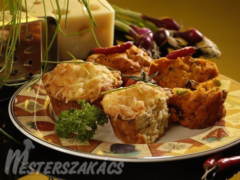 Burgonyás, sajtos muffin  recept