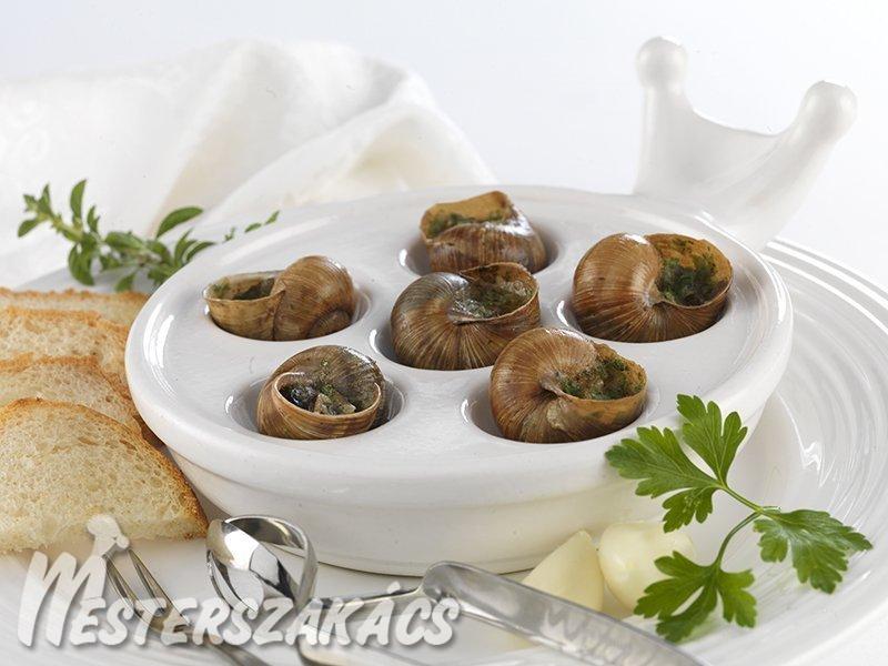 Burgundi fűszervajas csiga recept