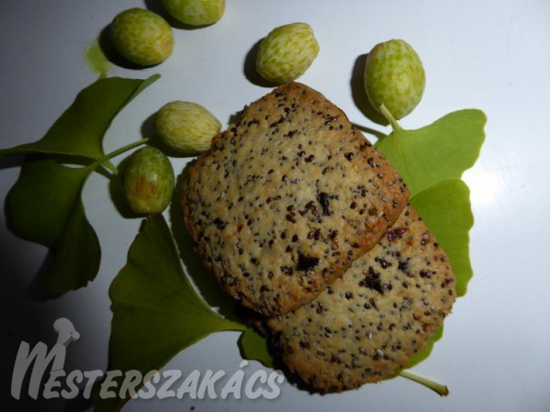 Chia magos-mákos, citrus gyümölcsös keksz recept