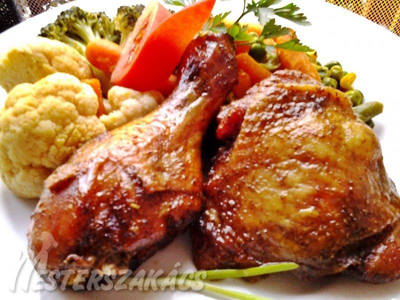 Chilis-szójás csirkecombok recept
