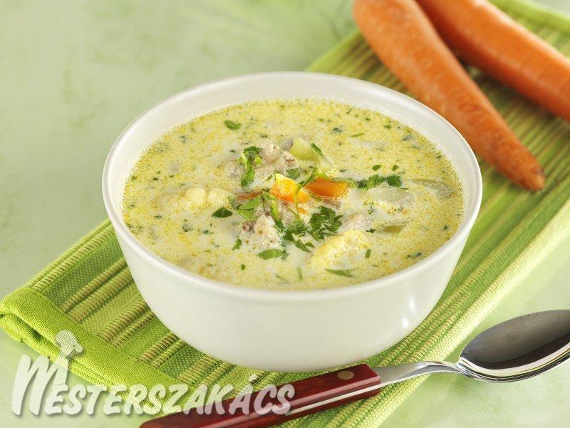 Citromos zöldségleves csirkemájgombóccal recept