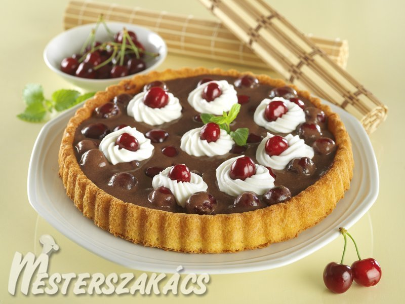 Cseresznyés-csokoládés torta recept