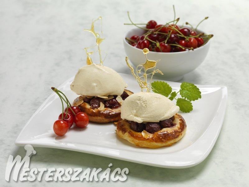 Cseresznyés kosárka recept