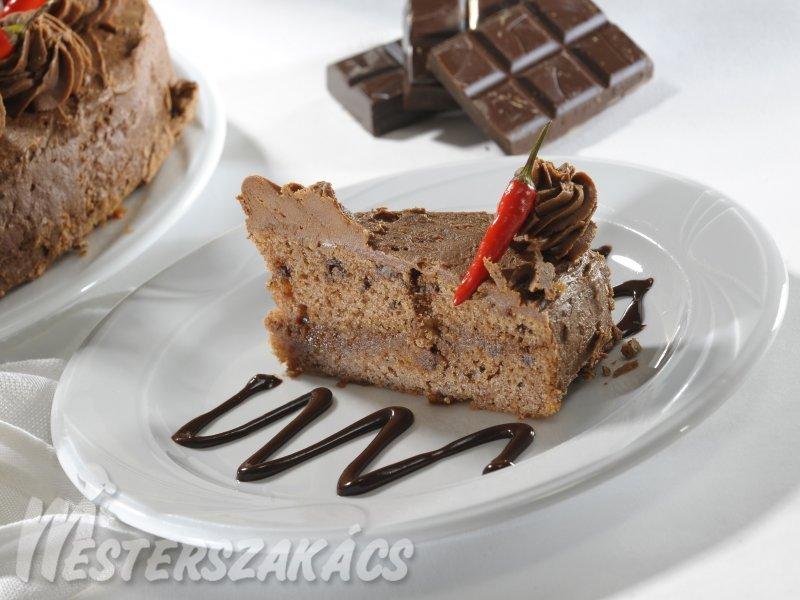 Csilis csokoládétorta recept