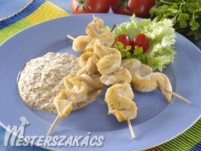 Csirke satay mogyorómártással recept