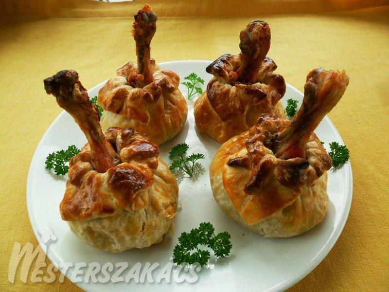 Csirkecombbal töltött batyu recept