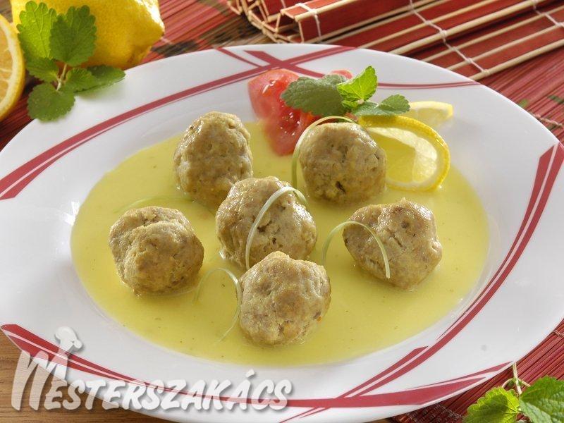 Csirkehúsgombócok savanyú mártásban recept