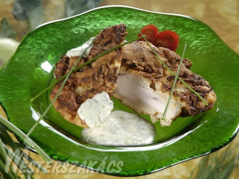 Csirkemell karalábébundában recept