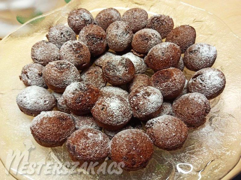 Csokis muffinkák recept