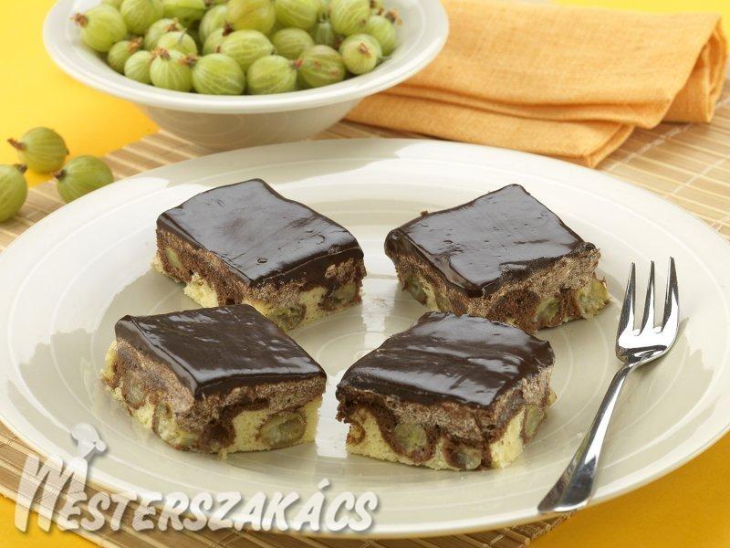 Csokoládés egreskocka recept