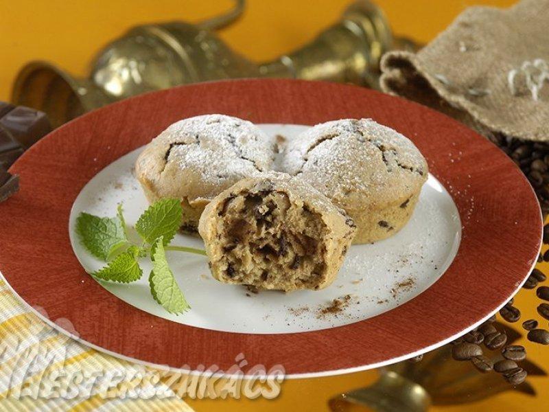 Csokoládés, kávés muffin recept
