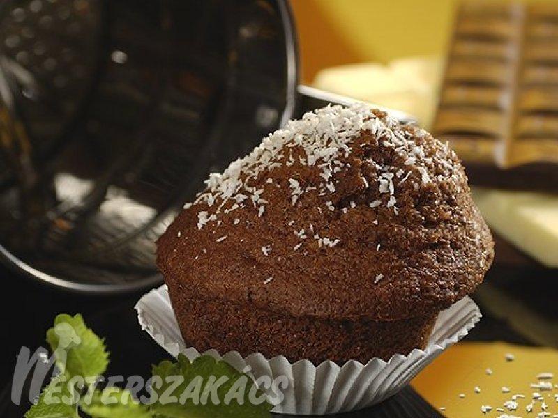 Csokoládés, kókuszos muffin recept