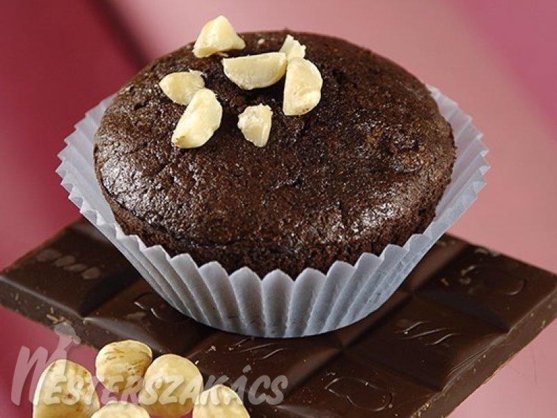Csokoládés, mogyorós muffin liszt nélkül recept