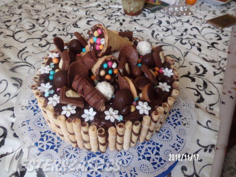 Csupa csoki torta recept