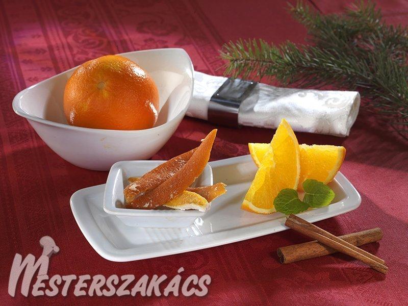 Cukrozott narancshéj recept