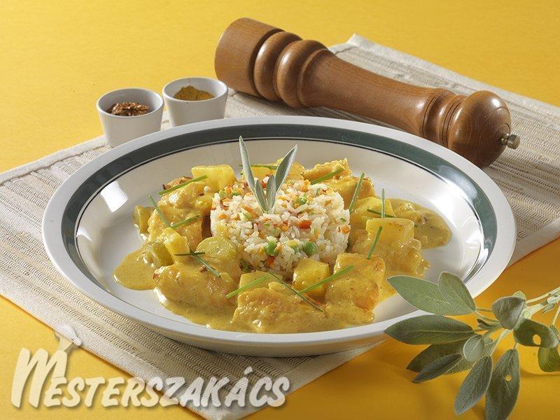 Currys pangasiusragu zöldséges rizzsel recept
