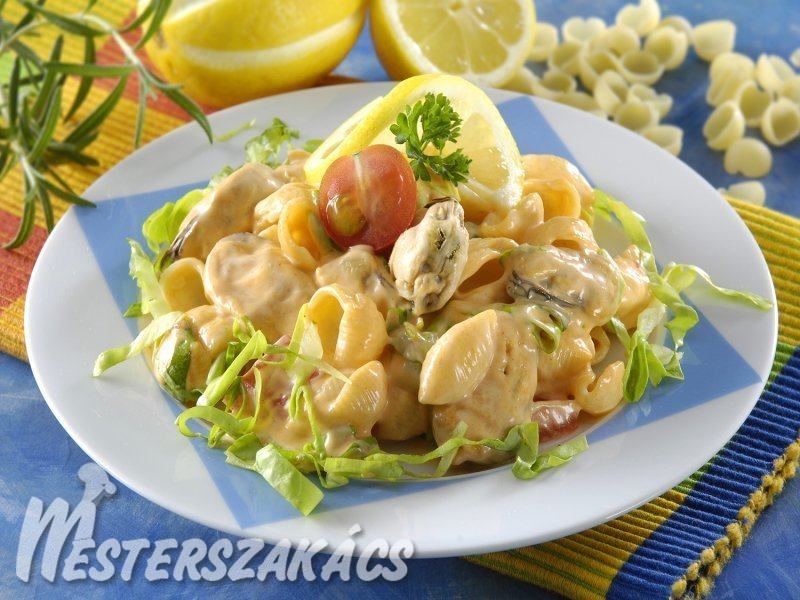 Duplakagyló-saláta recept