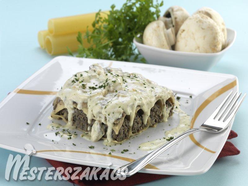 Duplán gombás cannelloni recept