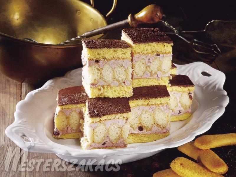 Duplán piskótás, rumos torta recept