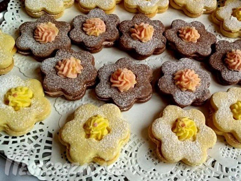 Duplán pudingos, töltött virágok recept