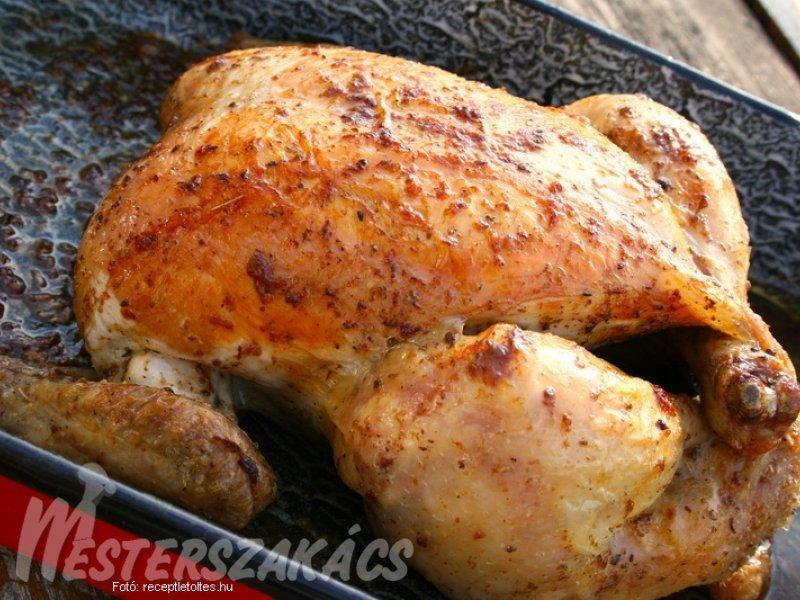 Egészben sült csirke recept