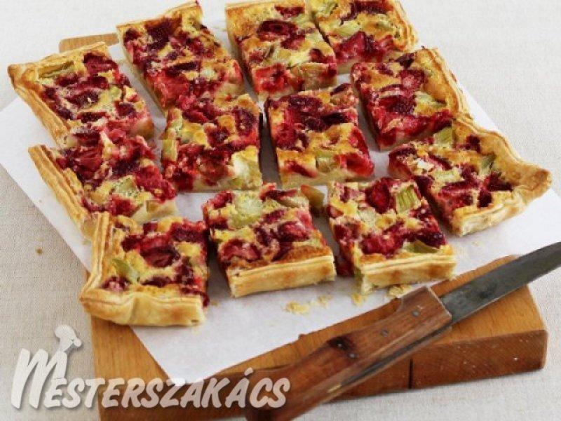 Epres-rebarbarás pite recept