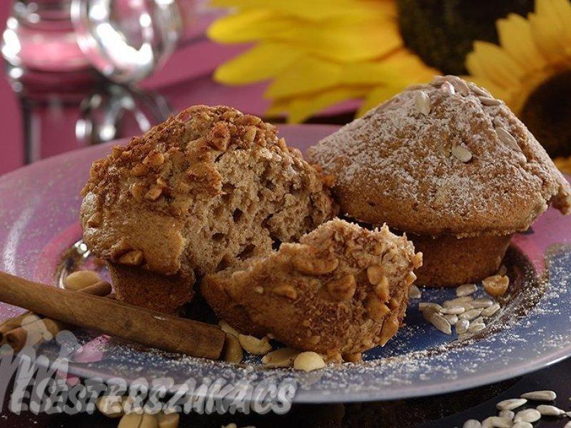 Fahéjas és fahéjas- napraforgómagos muffin   recept