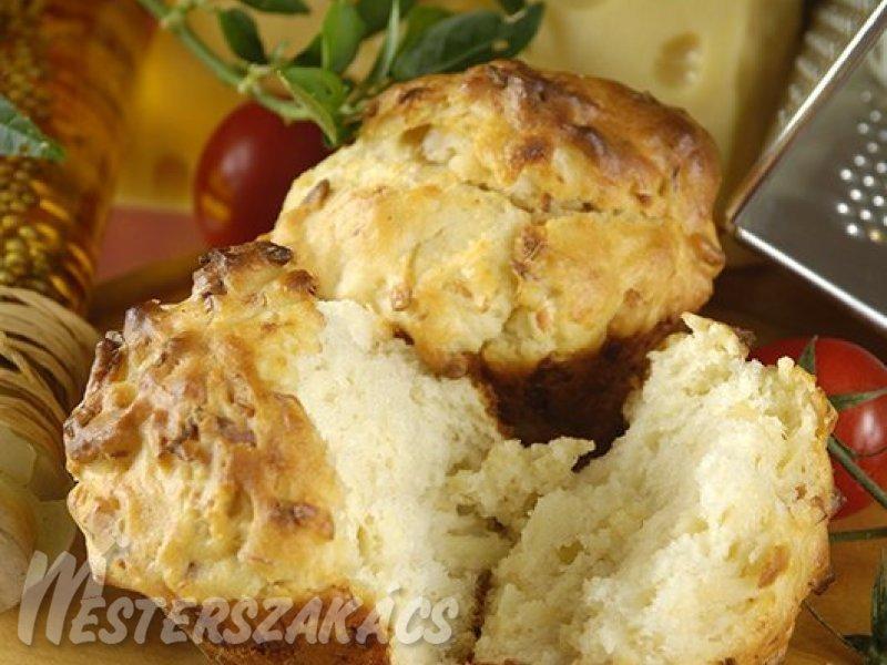 Füstölt sajtos muffin recept