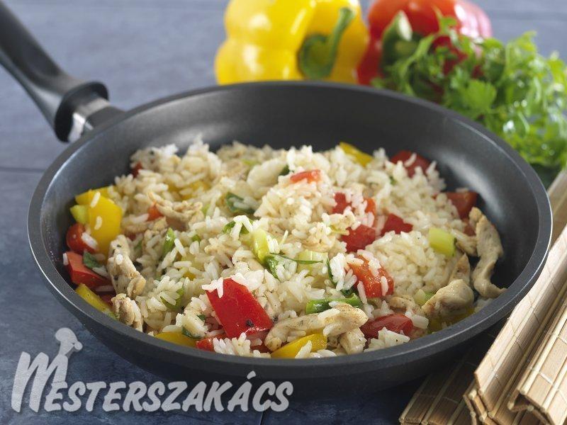Fűszeres-rizses csirke recept