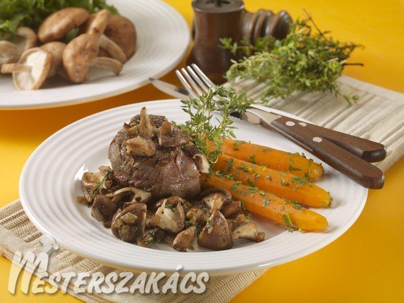 Fűszeres steak, pirított shitake gombával recept