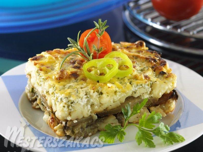 Fűszeres-zöldséges rakott galuska recept