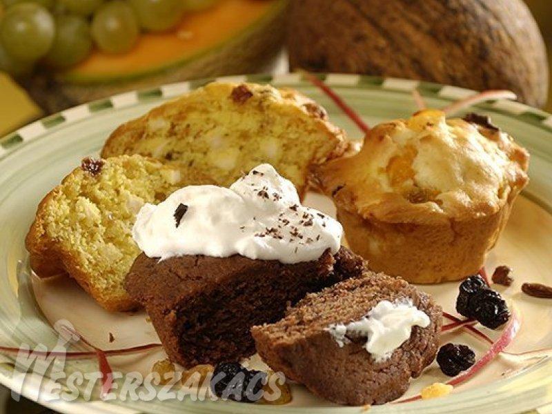 Gesztenyés, csokoládés muffin  recept