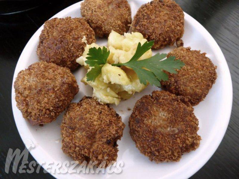 Gombafasírt, francia burgonyasalátával recept