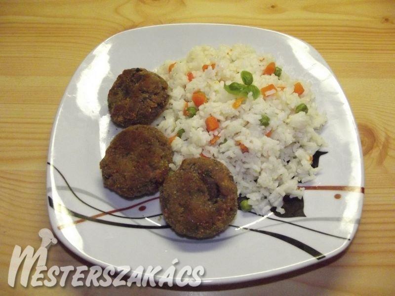 Gombafasírt zöldséges rizzsel recept