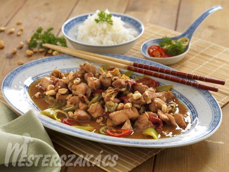 Gong-bao (kínai mogyorós csirke) recept