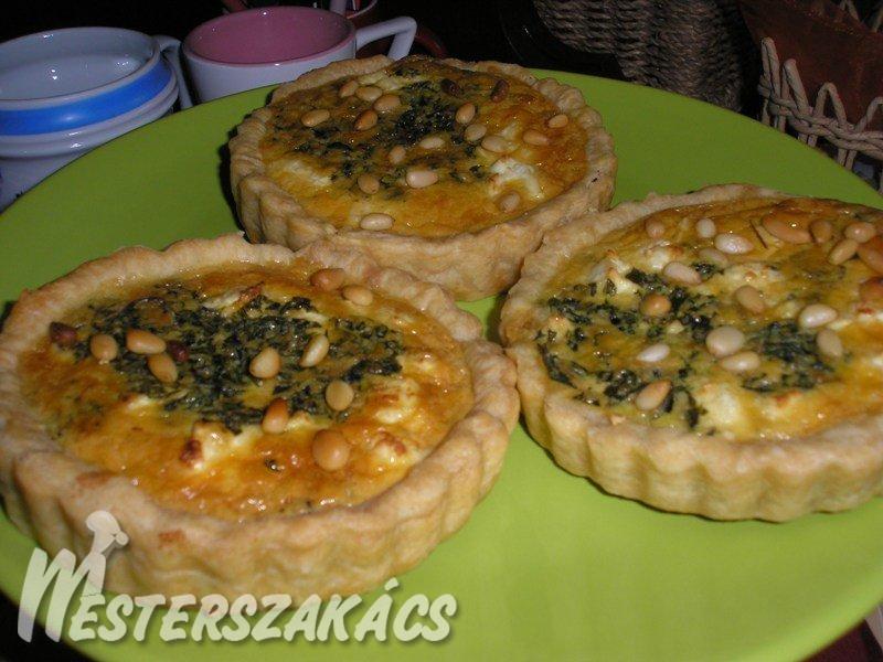Görög spenótos kosárka recept