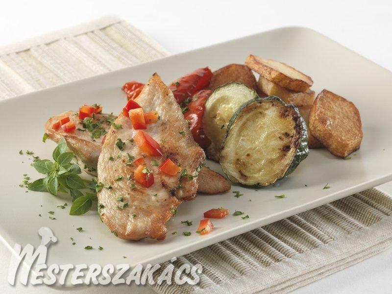 Grillezett csirkemell csípős, oregánós pácban  recept