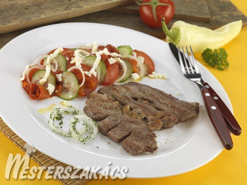 Grillezett tarja valódi bulgár sopszka salátával recept