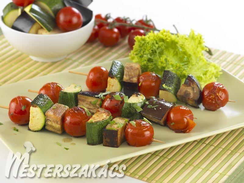 Grillezett zöldségnyárs  recept
